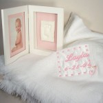 Baby Blanket & Keepsake Frame Personalized Baby Gift-Girl