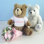 Bear Bouquet Personalized Baby Gift-Girl