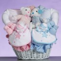 """""""Celestial"""" Baby Gift Basket-Gift For Twins"""