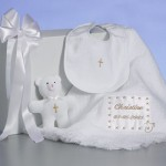 Christening Baby Blanket Personalized Gift Set