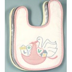 Stork Applique Baby Bib