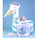 """""""Stork Delivers"""" Baby Boy Diaper Cake"""