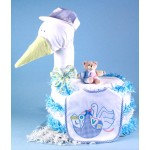 Stork Delivers Baby Boy Diaper Cake