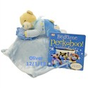 Bedtime Bear and Blanket Set Blue