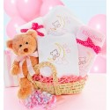 Beary Special Arrival Moses Basket- Girl