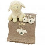 Crochet Baby Lamb Gift Set