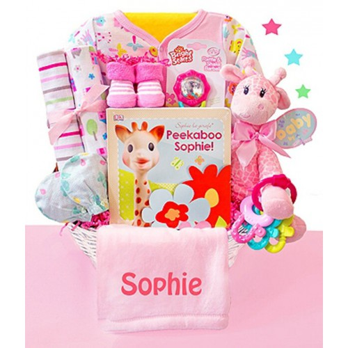 Little Safari Girl Baby Gift Basket