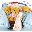 Personalized Triplets and Quadruplets Gift Basket