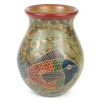 6 inch Tall Vase Fish Design - Esperanza en Accion