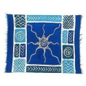 Handpainted Blue Sun Starfish Batiked Placemat - Tonga Textiles