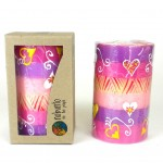 Hand Painted Candle - Single in Box - Ashiki Design - Nobunto