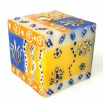 Hand Painted Candle - Cube - Durra Design - Nobunto