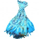 Handmade Sarong Turquoise - Designs will Vary - Global Groove (W)