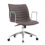 Fine Mod Imports Comfy Office Chair Mid Back, Dark Brown