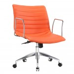 Fine Mod Imports Comfy Office Chair Mid Back, Orange
