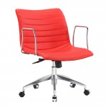 Fine Mod Imports Comfy Office Chair Mid Back, Red