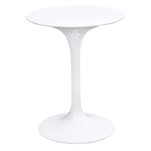 Fine Mod Imports Flower Table 23, White