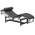 Fine Mod Imports Adjustable Chaise, Black