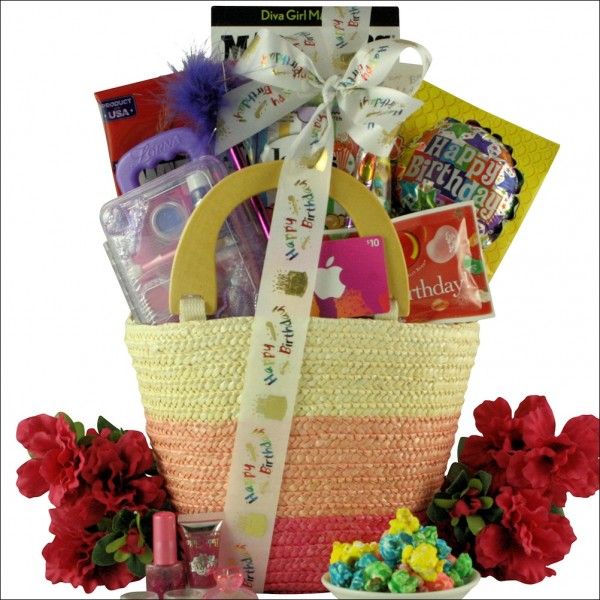 Fabulous Me Kids Birthday Basket For Girls