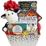 Baby Gift Basket with Brilliant Award Winning Caldecott Books
