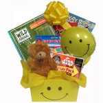 Cheerful Gift Basket for Boys and Girls with Activity Books