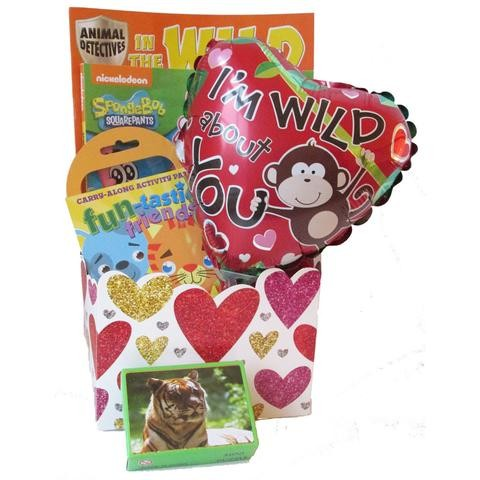 Wild About You Kids Valentine S Day Gift Basket Gift Baskets