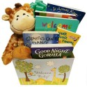 Wild for Baby Books Gift Basket with Animal Themed Board Books