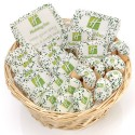 """24- PC Corporate Logo Gift Basket -11"""" Round Willow"""