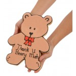 Giant Thank You Bear Sugar Shortbread Cookie