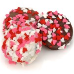Belgian Chocolate Heart Sprinkle Valentine Oreos®- Individually Wrapped