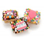 Birthday Chocolate Dipped Mini Crispy Rice Bars- Individually Wrapped