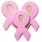 Breast Cancer Iced Cookie Favor