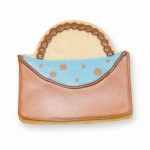 Designer Purse Cookie Favor- Brown and Blue