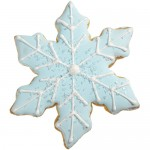 Elegant Snowflake Cookie Favor - Frosty Blue