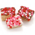 Heart Sprinkles Chocolate Dipped Mini Crispy Rice Bars- Individually Wrapped