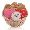 Lovely Hearts Cookie Gift Basket