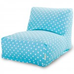 Aquamarine Small Polka Dot Bean Bag Chair Lounger - Indoor