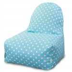 Aquamarine Small Polka Dot Kick-It Chair - Indoor