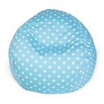 Aquamarine Small Polka Dot Small Classic Bean Bag - Indoor