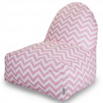Baby Pink Chevron Kick-It Chair - Indoor