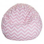 Baby Pink Chevron Small Classic Bean Bag - Indoor