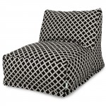 Black Bamboo Bean Bag Chair Lounger - Indoor/Outdoor