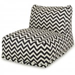 Black Chevron Bean Bag Chair Lounger - Indoor/Outdoor