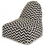 Black Chevron Kick-It Chair - Indoor/Outdoor