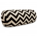 Black Chevron Round Bolster - Indoor/Outdoor