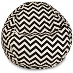 Black Chevron Small Classic Bean Bag - Indoor/Outdoor