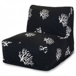 Black Coral Bean Bag Chair Lounger - Indoor/Outdoor