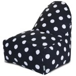Black Large Polka Dot Kick-It Chair - Indoor