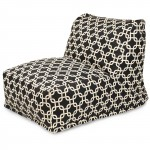 Black Links Bean Bag Chair Lounger - Indoor/Outdoor