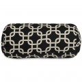 Black Links Round Bolster - Indoor/Outdoor